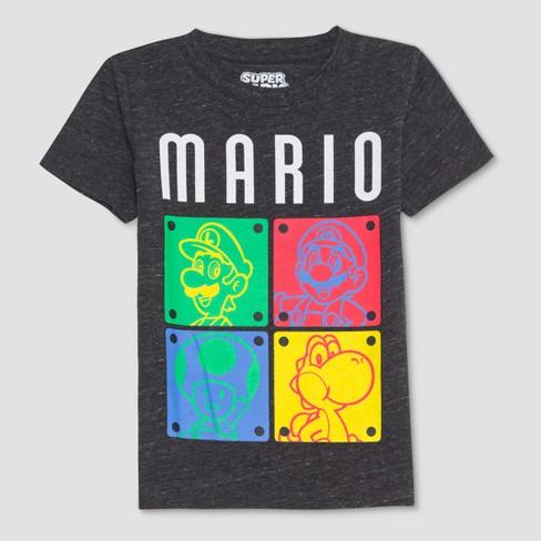 a6d679df6eab Toddler Boys' Nintendo Mario and Friends Short Sleeve T-Shirt - Black