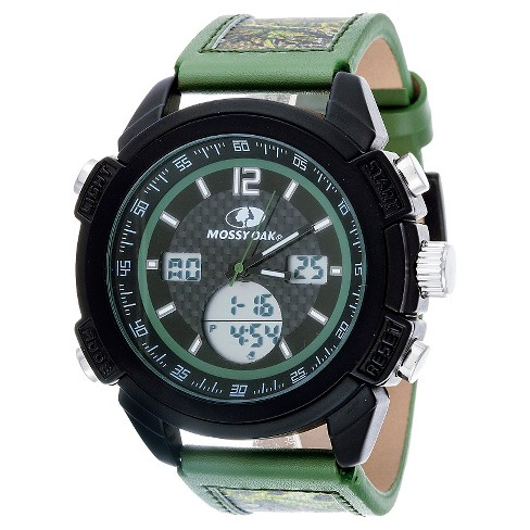 Men's Mossy Oak® Analog and Digital Watch - Green - image 1 of 2