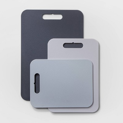 3pc Poly Essentials Cutting Board Set Gray - Made By Design™