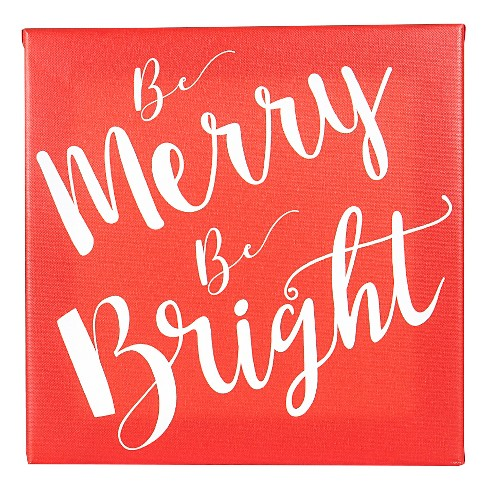 Merry & Bright Canvas Wall Dcor - image 1 of 4
