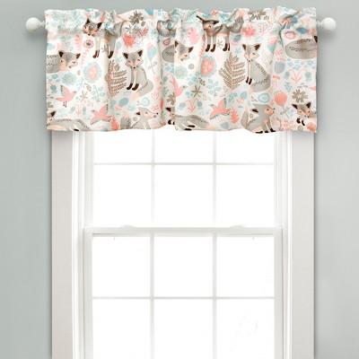 Pixie Fox Room Darkening Window Curtain Panels Gray/Pink - Lush Décor