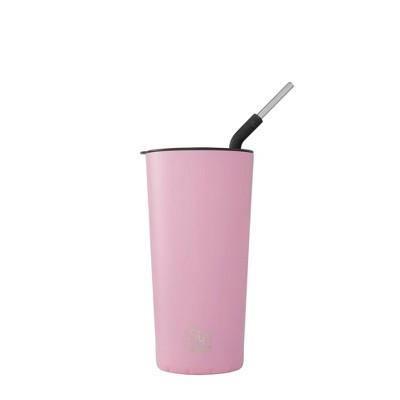 S'ip by S'well 24oz Takeaway Tumbler with Stainless Steel Straw Rosey Rose