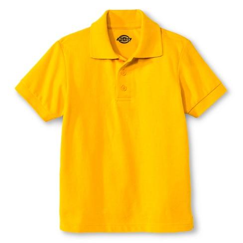 Dickies Boys' Pique Uniform Polo Shirt - Gold XL - image 1 of 1