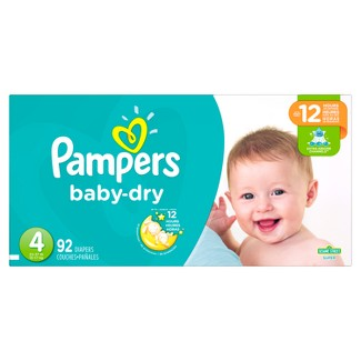 Pampers Baby Dry Diapers Super Pack Size 4 (92 ct)