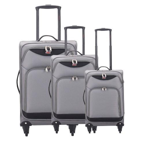 "InUSA Light-Fi 3pc Spinner Luggage Set 20""& 24""& 28"" - Gray - image 1 of 6"