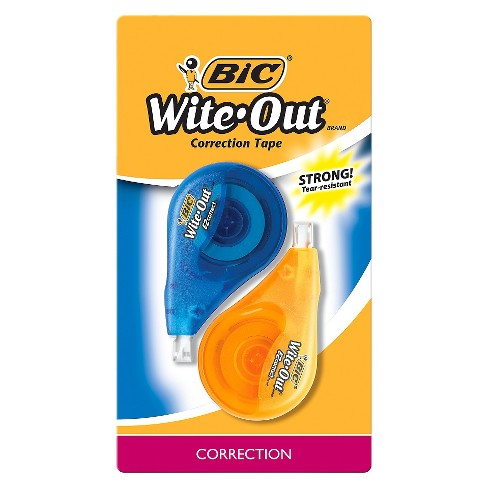 BiC Wite-Out Correction Tape 2ct Orange/Blue - image 1 of 4