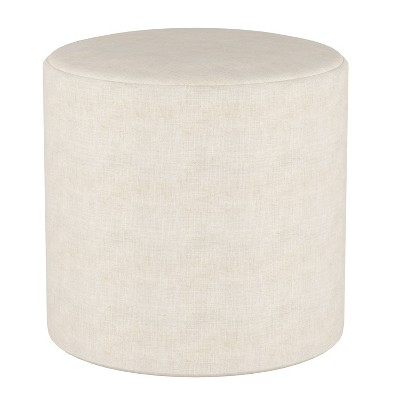 Round Ottoman in Linen - Project 62™