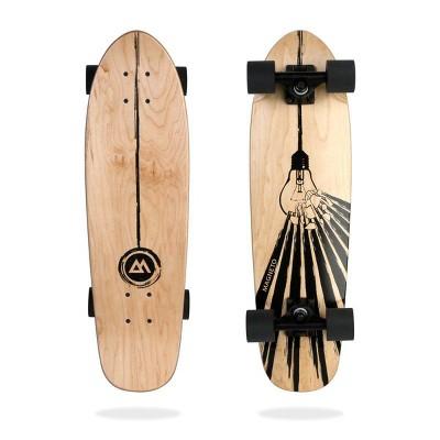 """Magneto Boards 27.5"""" Mini Cruiser Skateboard - Light Bulb"""