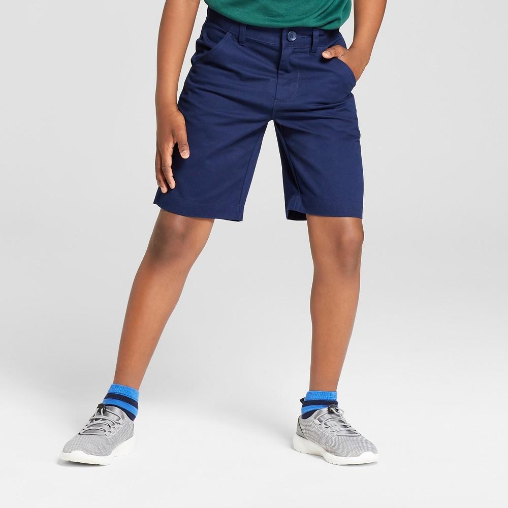 Boys' Chino Uniform Shorts - Cat & Jack Navy (Blue) 10 Husky