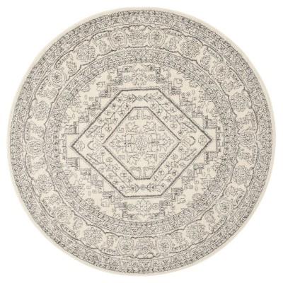 Aldwin Accent Rug - Ivory/Silver (4' Round)- Safavieh®