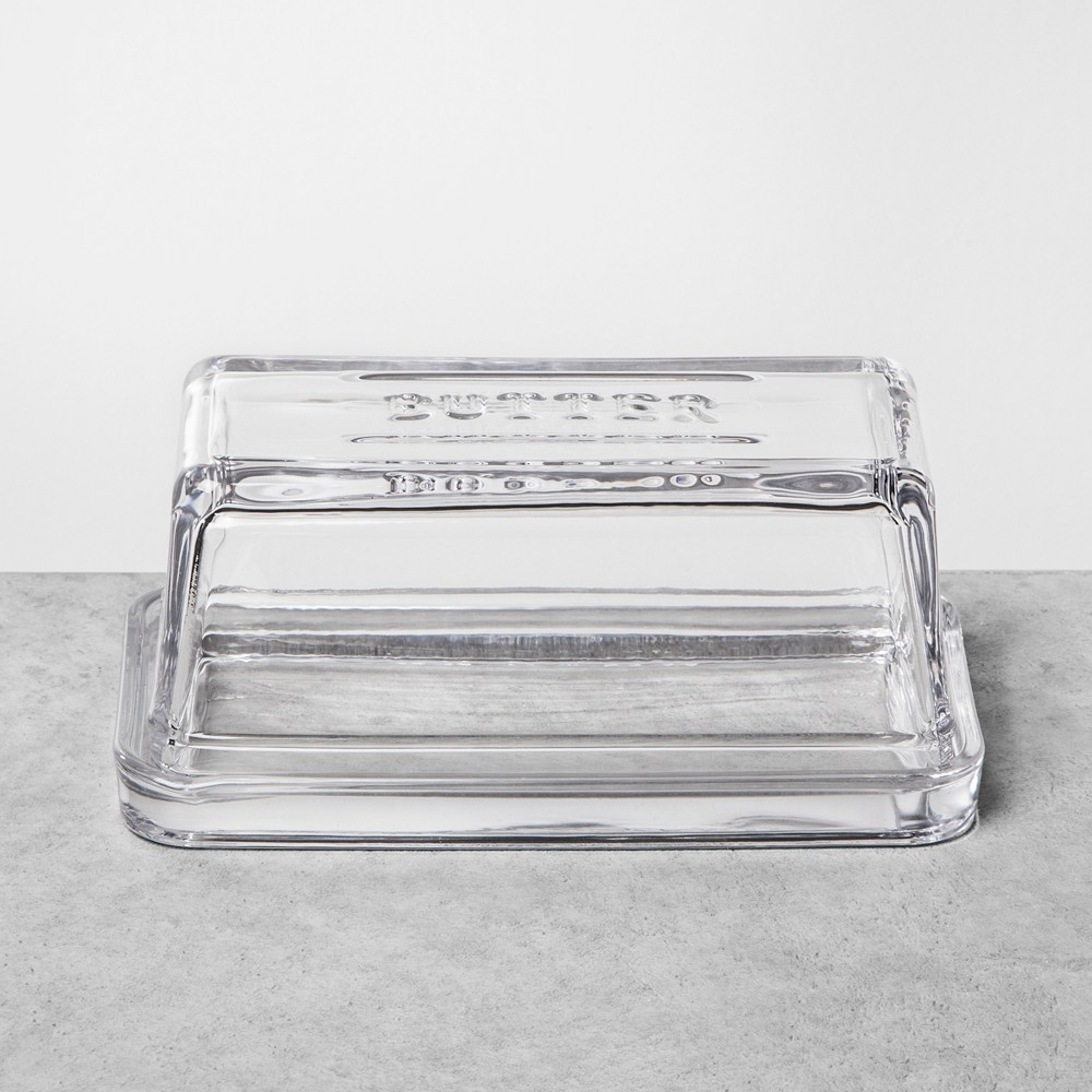 Image of Butter Dish Glass Clear - Hearth & Hand with Magnolia