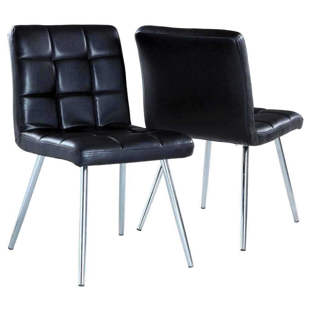 Metal Dining Chair - Black (Set of 2) - EveryRoom