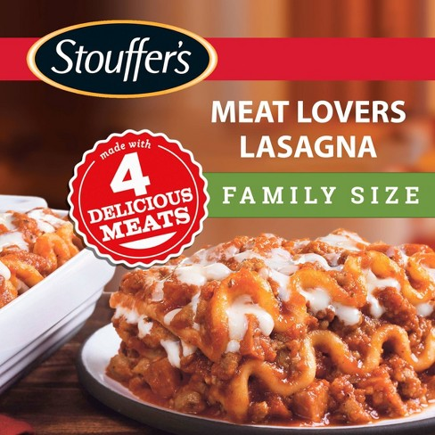 Stouffer's Family Size Frozen Meat Lover's Lasagna - 34oz - image 1 of 4