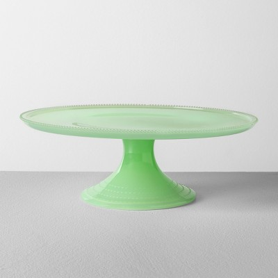 Milk Glass Cake Stand Green - Hearth & Hand™ with Magnolia