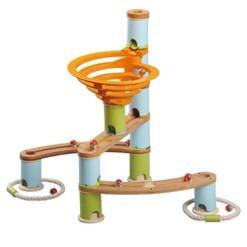 Fat Brain Toys Bamboo Builder Marble Run - 78pc