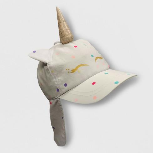 9913fa417c1 Toddler Girls  Unicorn Baseball Hat with Neck Flap - Cat   Jack™ White 2T-5T