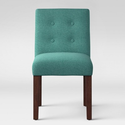Ewing Modern Dining Chair with Buttons Teal - Project 62™
