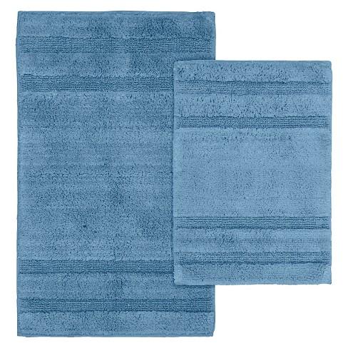 2pc Majesty Cotton Washable Bath Rug Set - Garland Rug®