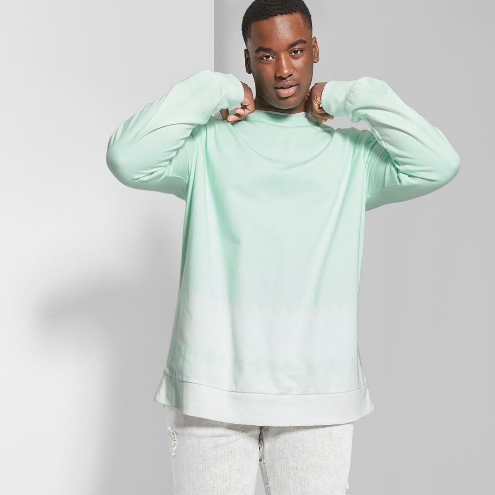 Men's Big & Tall Tie Dye Regular Fit Long Sleeve French Terry Pullover Sweatshirt - Original Use Moonlight Jade 4XB