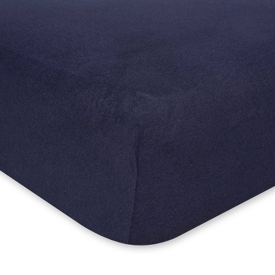 Burt's Bees Baby® Organic Jersey Fitted Crib Sheet - Solid Blueberry