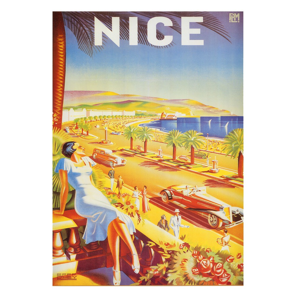 Art.com Nice by DHey - Art Print, Multi-Colored
