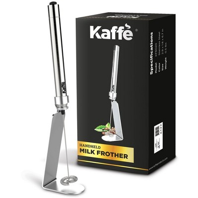 Kaffe Handheld Milk Frother with Stand - Stainless Steel