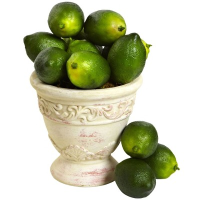 12pk Unscented Artificial Lime Vase Filler Green - Nearly Natural