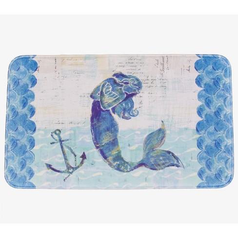Lakeside Mermaid Memory Foam Bathroom Accent Rug - Nautical Restroom Decoration - image 1 of 2