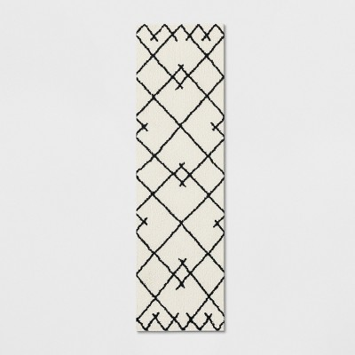 2'X7' Kenya Tribal Design Tufted Runner Ivory - Project 62™