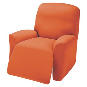 Tangerine Jersey Large Recliner Slipcover - Madison Industries, Orange