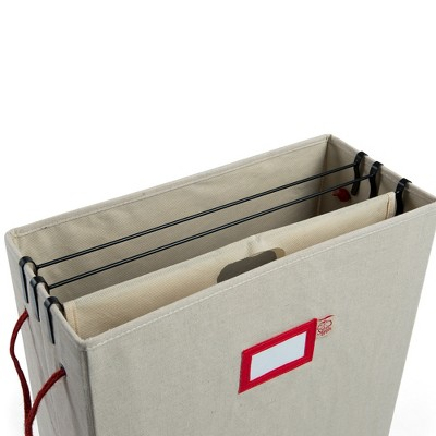 Gift Bag and Tissue Cross Stitch Print Storage Box Light Tan - TreeKeeper