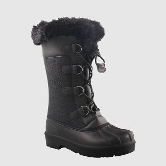 Girls' Constance Winter Boots - Cat & Jack™ Black 1