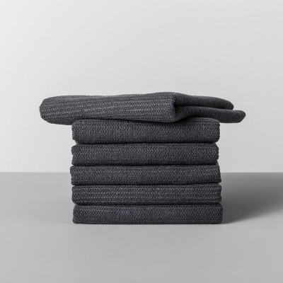 6pk Terry Dishcloth Dark Gray - Made By Design™