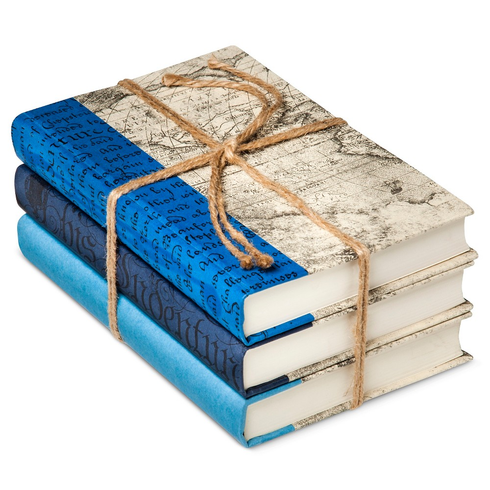 Image of Blue Mix Decorative Book Set of 3