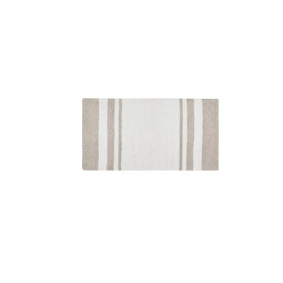 Spa Cotton Reversible Bath Rug Taupe Brown 27 x45