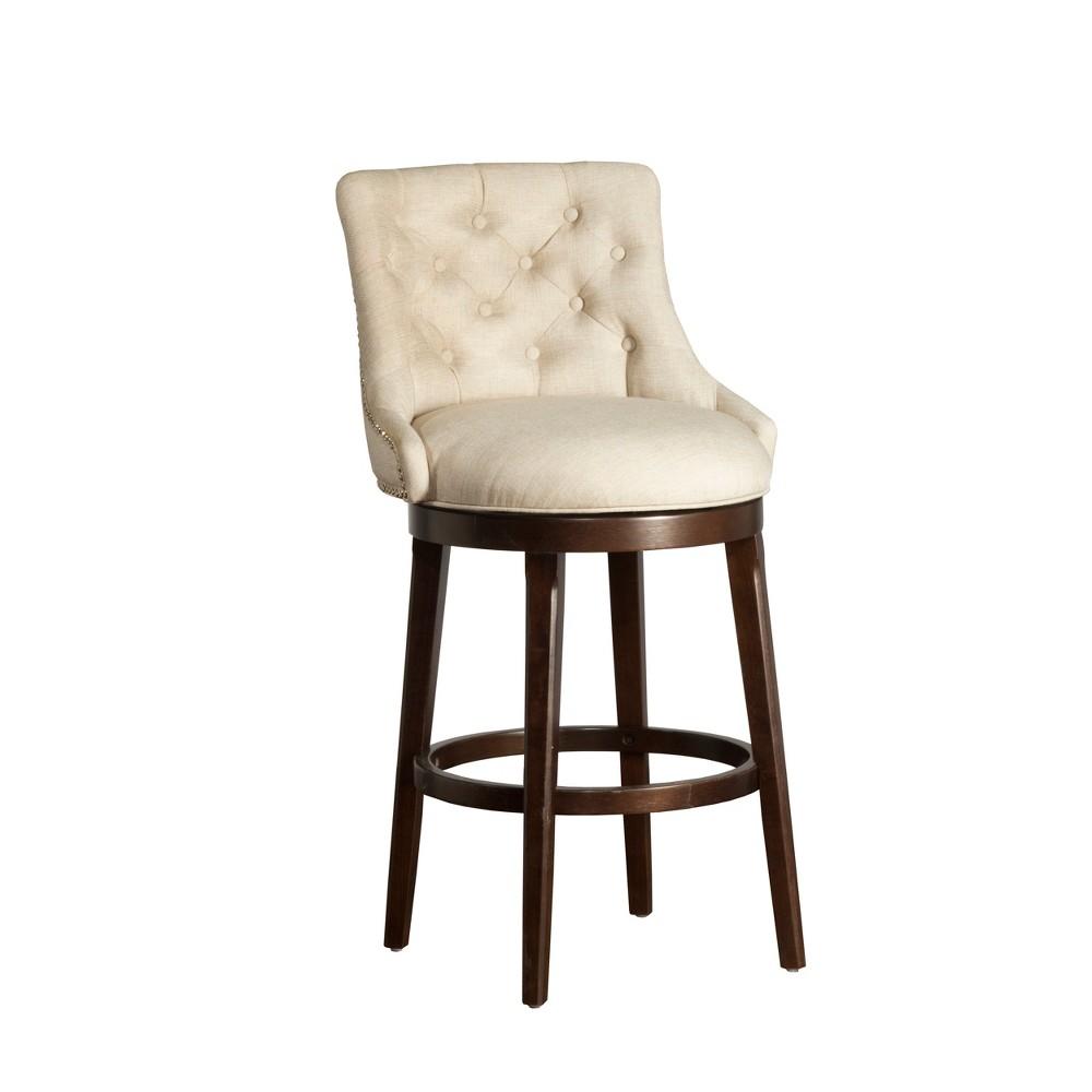 30 Halbrooke Swivel Bar Stool Smoke/Cream (Grey/Ivory) Hillsdale Furniture