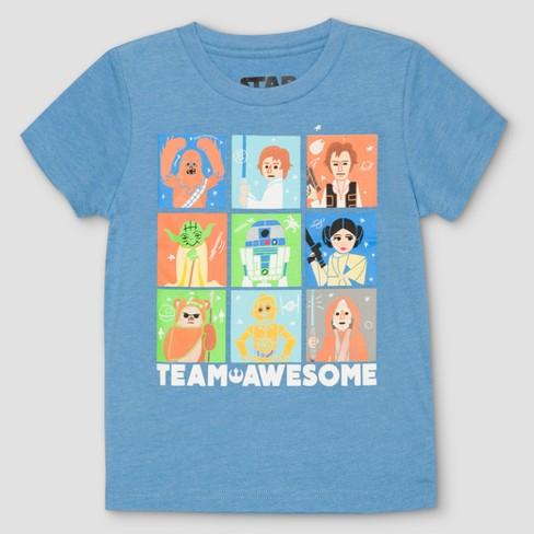 e73aafea3 Toddler Boys  Star Wars Short Sleeve T-Shirt - Blue   Target
