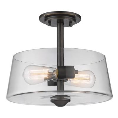 """10"""" Ceiling Light Semi-Flush Mount Olde Bronze - Z-Lite"""