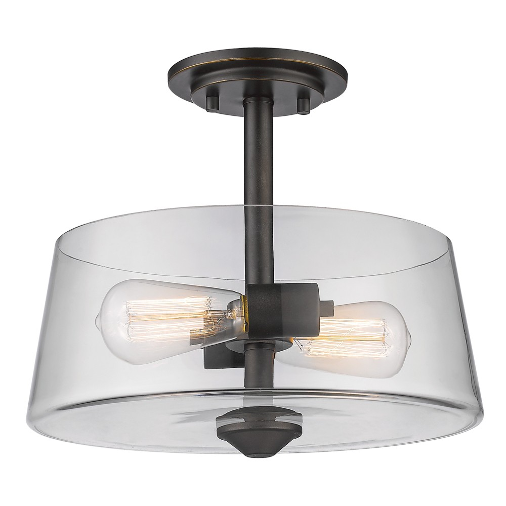 "Image of ""10"""" Ceiling Light Semi-Flush Mount Olde Bronze - Z-Lite"""