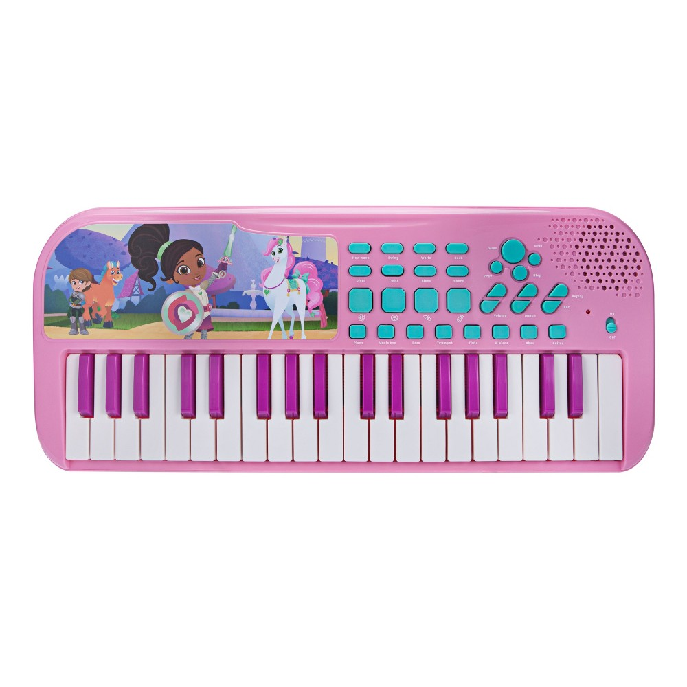 First Act Nella the Princess Knight Toy Keyboard Loaded with songs, sounds and rhythms! Play with 37 keys, tons of key sounds, rhythms and demo songs. Plus, record and playback feature for writing songs! Gender: Unisex.