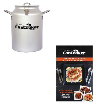 CanCooker CC-001-CN Convection 4 Gallon Steam Cooker for 20 People Bundle with CanCooker 100 Page 5 Meal Recipe Cookbook Volume 1