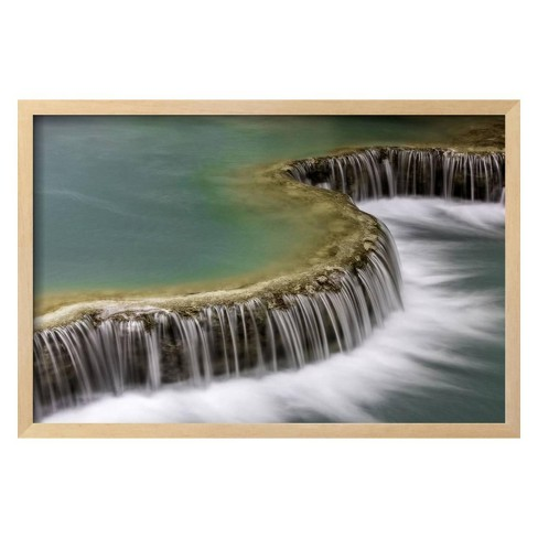 Waterfall in Laos by Art Wolfe Framed Photographic Print - Art.com - image 1 of 3