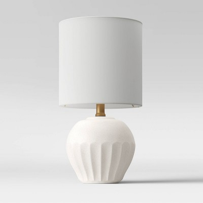 Ceramic Scalloped Accent Lamp Aged White - Opalhouse™