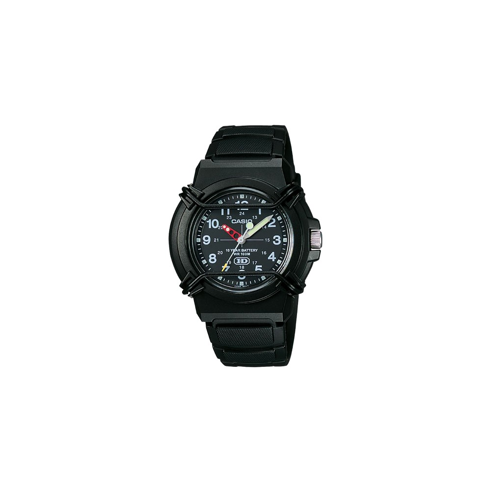 Image of Casio Men's Analog Sport Watch - Black (HDA600B-1BV), Size: Small