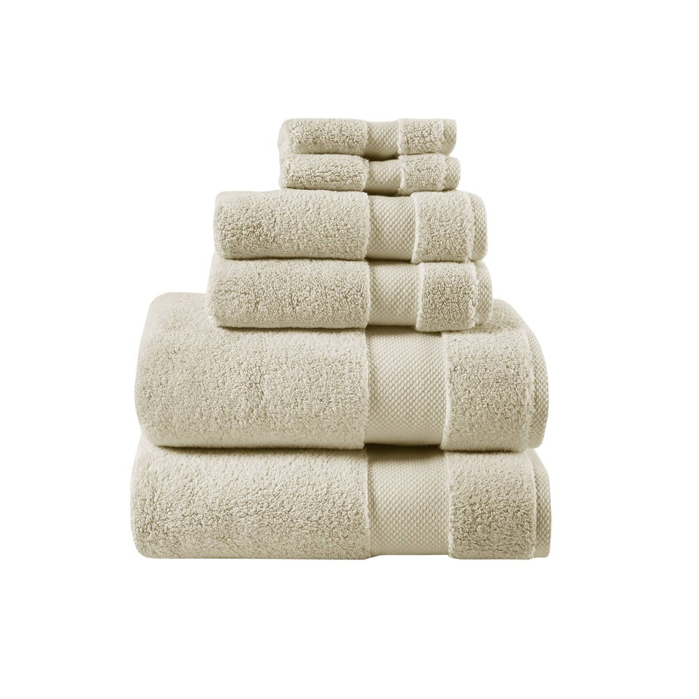 """Image of """"30""""""""x54"""""""" 6pc Luxor Egyptian Cotton Towel Set Taupe, Brown"""""""