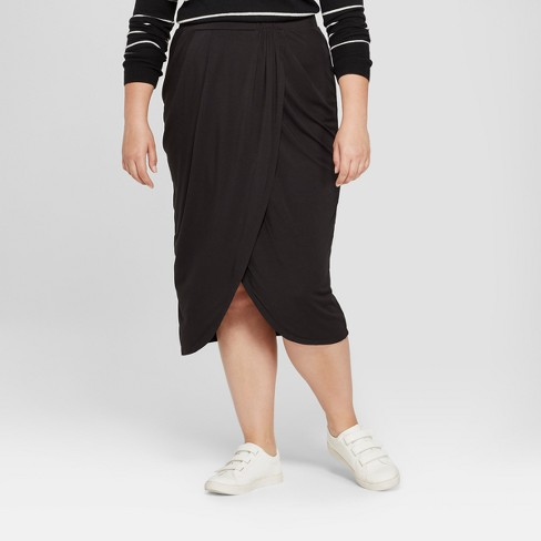 Women's Plus Size Wrap Skirt - A New Day™ - image 1 of 3