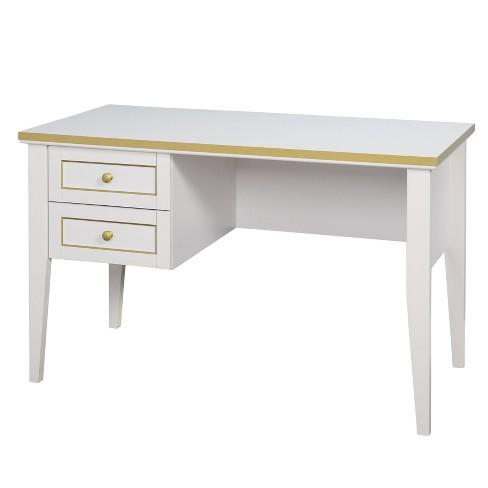 Karina Writing Desk White Gold Lateral