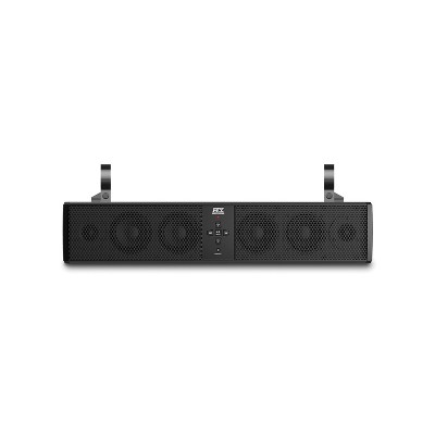 MTX MUD6SPBT Mud Series Universal Weatherproof 6 Speaker ATV Bluetooth Enabled Sound Bar with 3.5mm Aux Input and Output, and Mounting Clamps, Black