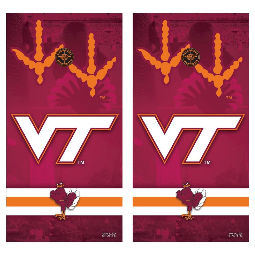 Virginia Tech Hokies Wild Sports College Vinyl Cornhole Shield - 2 x 4 ft.