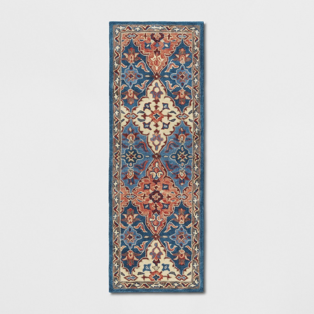 2'4X7' Tufted PersianAccent Rugs Blue - Threshold